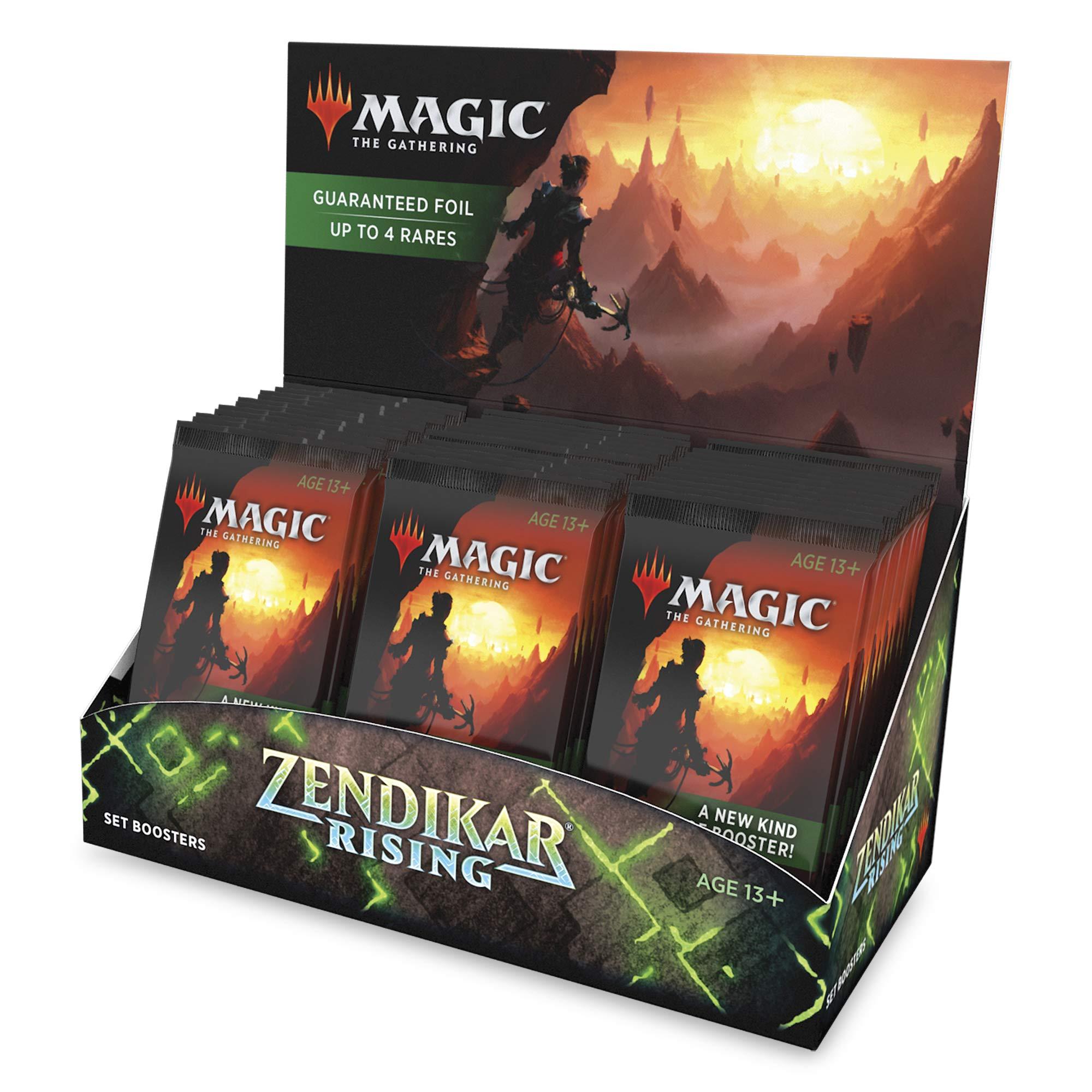 Magic: The Gathering Zendikar Rising Set Booster Box   30 Packs (360 Cards) + 1 Box Topper   Foil in Every Pack