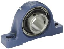 SKF SYJ70TF Pillow Block Ball Bearing, 2 Bolts, Setscrew Locking Collar, Non-Expansion Type, Contact Flinger Seals, Cast Iron, Metric, 70mm Shaft, 88.9mm Base To Center Height, 232mm Bolt Hole Spacing Width