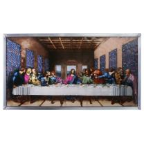 Stained Glass Panel - Da Vinci The Last Supper Stained Glass Window Hangings - Art Glass Window Treatments
