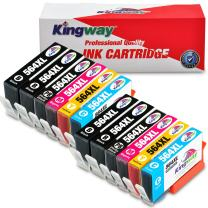 Kingway Compatible Ink Cartridge Replacement for HP 564XL 564 XL,5 Color Work for Photosmart 7510 7515 7520 7525 B8550 C6380 D5460 D7560 C309a,Officejet 4610 Printer Ink (4BK/2PBK/2C/2M/2Y,12 Pack)