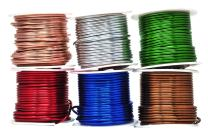 Mandala Crafts Anodized Aluminum Wire for Sculpting, Armature, Jewelry Making, Gem Metal Wrap, Garden, Colored and Soft, Assorted 6 Rolls (12 Gauge, Combo 4)