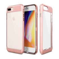PATCHWORKS iPhone 8 Plus Case, [Contour Series] Hybrid Smudge-Free Clear Inner TPU Hard Matte Finish PC Frame Cover Military Grade Drop Tested Case [Wireless Charging] for iPhone 8 Plus 7 Plus - Pink