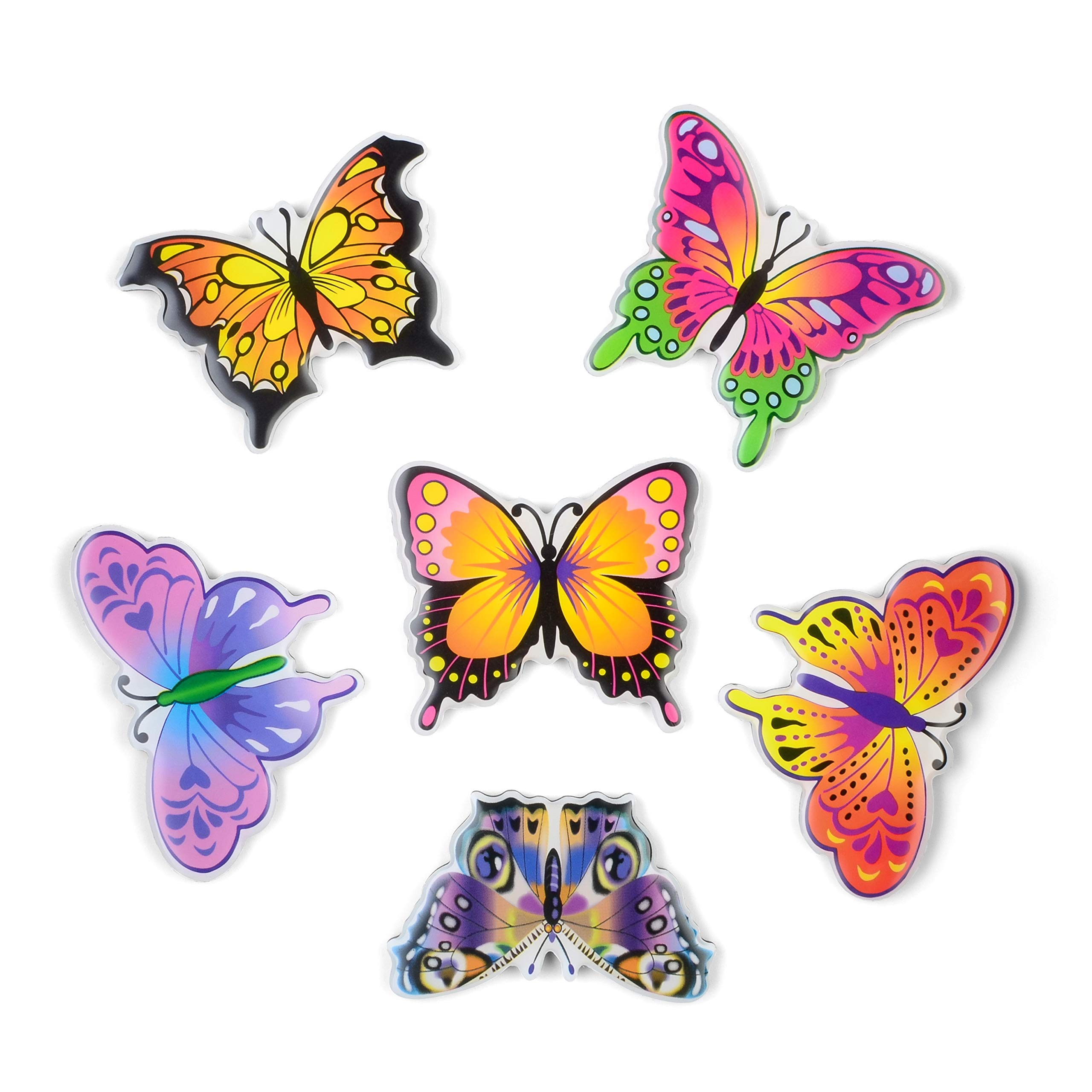 SUPCOOKI 6pcs Beautiful Glass Refrigerator Magnets Decorative Magnet Funny Fridge Stickers Magnet Fun Butterfly Home Decoration Funny for Office Cabinets Whiteboards Photo Abstract