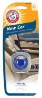 Arm & Hammer AH8200NEC Vent Clip Air Freshener, New Car, Pack of 1