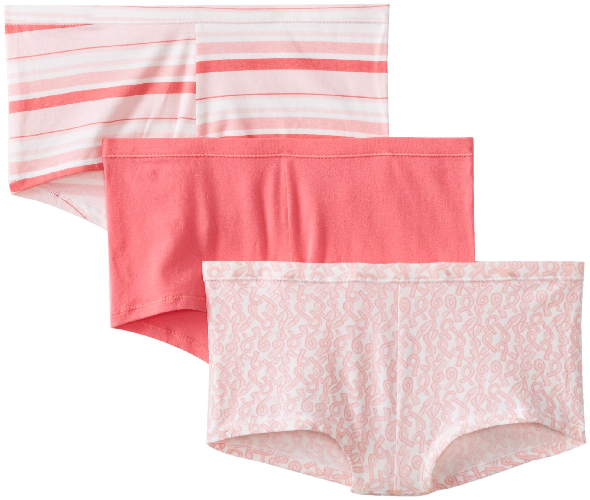 Hanes Women's Comfortsoft Cotton Stretch Boy Brief (Pack of 3)(assorted colors)