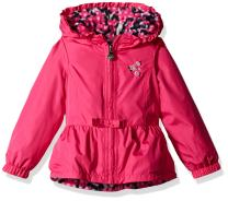 London Fog Little Girls' Toddler Reversible Midweight Poly to Fleece Jacket