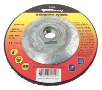 Forney 71819 Grinding Wheel with 5/8-Inch-11 Threaded Arbor, Metal Type 27, A24R-BF, 4-1/2-Inch-by-1/4-Inch