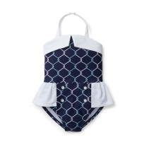 Hope & Henry Girls' One-Piece Swimsuit
