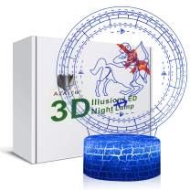 3D Illusion Sagittarius The Centaur Archer Zodiac Sign Horoscope Night Light Lamp 7 Color Change Touch White Crack Base AZALCO Birthday Present