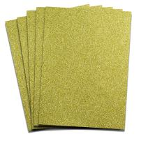 Rozzy Crafts - Lime Gold Glitter Heat Transfer Vinyl (HTV) - 5 Sheets Each 12 inches by 10 inches - Works with Cricut, Silhouette, and All Other Cutting Machines