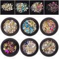 6 Wheels Mixed Nail Art Rhinestones Diamonds Crystals Beads Gems for DIY Decor Decorations Accessories (02#)
