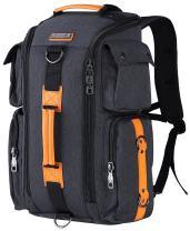 WITZMAN Travel Backpack For Men Laptop Bags Casual Daypack Convertible Rucksack 3 Carrying Ways (6695 Black)