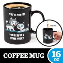 BigMouth Inc Color Changing Husky Mystery Mug, Holds 16oz, Changes When Hot or Cold, Ceramic Coffee Cup, Novelty Mug