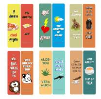Creanoso Love Puns Bookmarks (60-Pack) – Six Assorted Quality Bookmarker Cards Bulk Set – Premium Gift for Bibliophiles, Bookworms, Book Readers, Men & Women, Adults – Corporate Giveaways