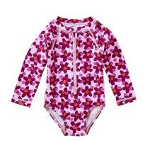 Tea Collection Rash Guard Long Sleeve One Piece Swimwear, Girls, Lanai Geo Floral