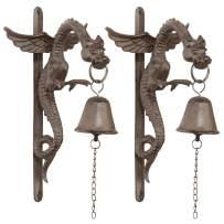 Design Toscano Florentine Dragon Gothic Iron Doorbell: Set of Two