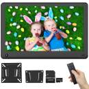 15.6 Inch Digital Picture Frame 1920x1080 IPS Screen 16:9 HD Video Frame Include 32GB SD Card, Photo Auto Rotate, Background Music, Auto Turn On/Off, Calendar, Breakpoint Playback, Motion Sensor