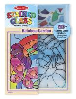Melissa & Doug Stained Glass See-Through Window Art Kit: Rainbow Garden (80+ Stickers, Frame)