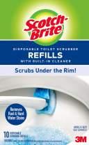 Scotch-Brite Disposable Toilet Scrubber Refills, Disposable Refills with Built-in Bleach Alternative, 40 Disposable Refills
