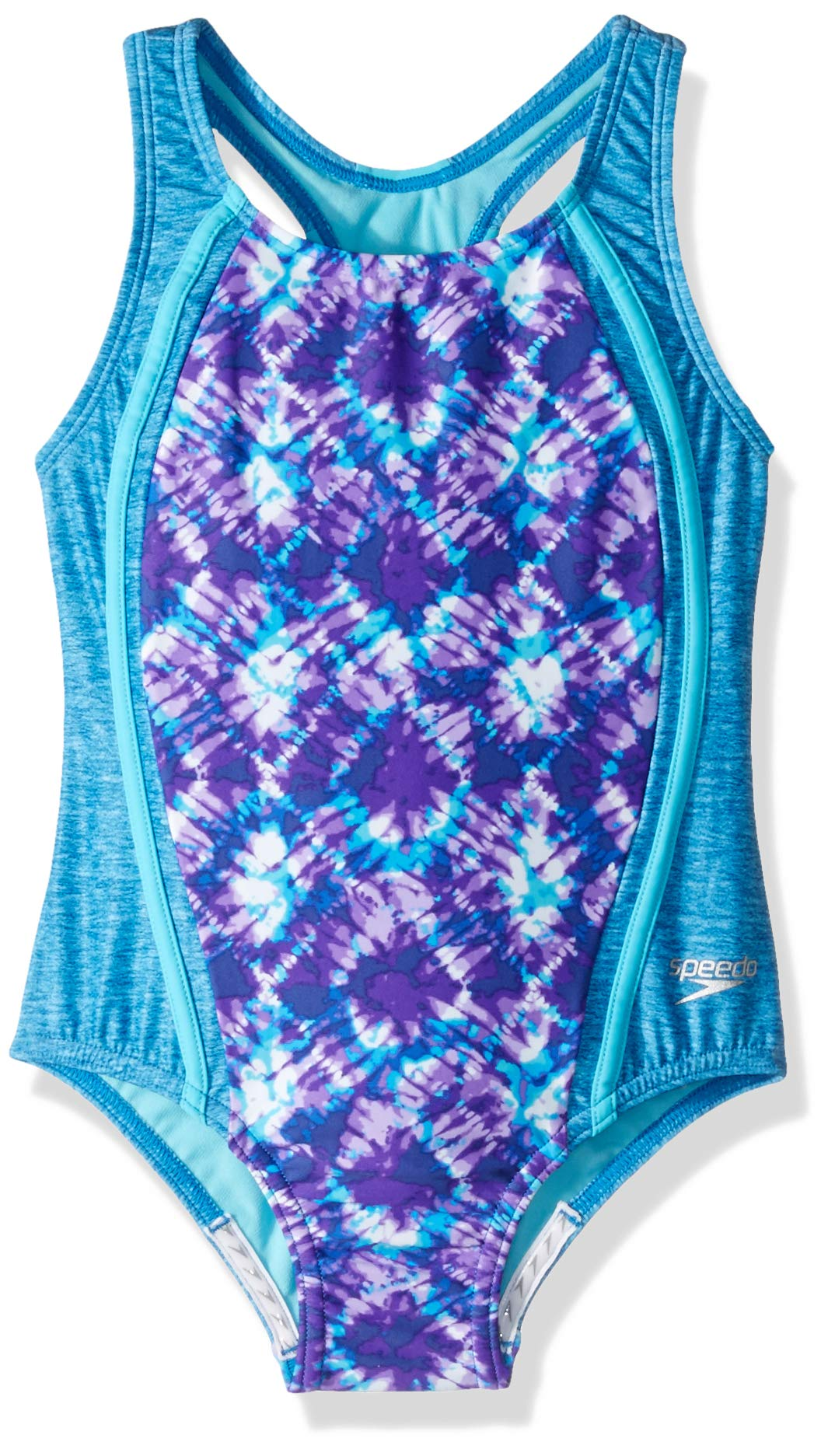 Speedo Girls Swimsuit One Piece Thick Strap Racer Back Printed - Manufacturer Discontinued