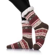 Womens Winter Soft Slipper Socks Cozy Warm Heavy Thick Fleece Lining Knit Stockings Fuzzy Christmas Home Socks