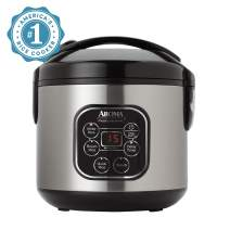 Aroma Professional Rice Cooker / Multicooker, Silver (ARC-964SBD)