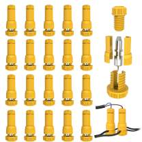 JACKYLED Low Voltage Fastlock Landscape Light Cable Connectors 20-Pack, Waterproof 12-16 Gauge Landscaping Wire Connectors for Outdoor Path Lights Pathway Lighting Spotlights (Yellow)