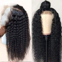 IWISH 8A Deep Wave Lace Front Wig for Black Women(18'') 130% Density Gueless Brazilian Deep Curly Weave Lace Front Human Hair wigs With Baby Hair Bleached Knots