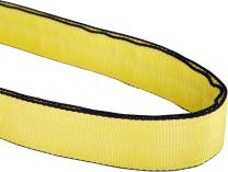 """Mazzella EN2-903 Edgeguard Polyester Web Sling, Endless, Yellow, 2 Ply, 8' Length, 3"""" Width, 16300 lbs Vertical Load Capacity"""