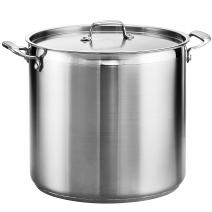 Tramontina 80120/003DS Gourmet Stainless Steel Covered Stock Pot, 24-Quart