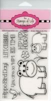 Super Cute Hippo Stamps for Card-Making and Scrapbooking Supplies by The Stamps of Life - Hippo2Stamp