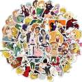 50 Pcs Seven Deadly Sins Anime Stickers Japanese Anime Laptop Stickers for Kids Teens Water Bottles Bicycle Skateboard Luggage Decal (The Seven Deadly Sins)
