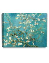 DECORARTS - Almond Blossom Tree - Vincent Van Gogh Art Reproduction. Giclee Canvas Prints Wall Art for Home Decor 20x16