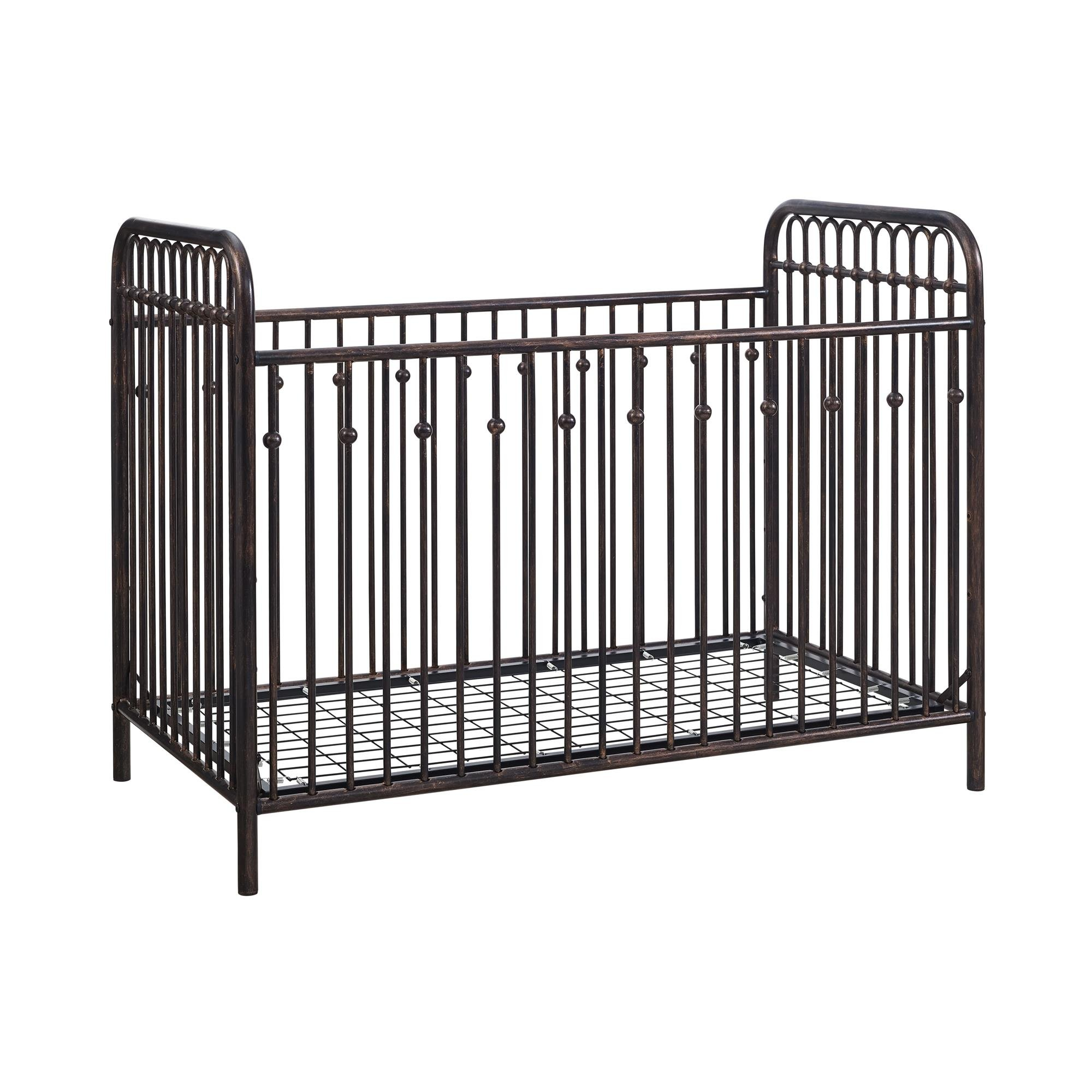 Little Seeds Monarch Hill Ivy Metal Crib, Bronze