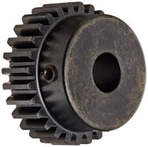 """Martin S1622 Spur Gear, 14.5° Pressure Angle, High Carbon Steel, Inch, 16 Pitch, 1/2"""" Bore, 1.5"""" OD, 0.500"""" Face Width, 22 Teeth"""