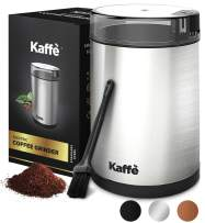 KF2020 Electric Coffee Grinder by Kaffe - Stainless Steel 3oz Capacity with Easy On/Off Button. Cleaning Brush Included!