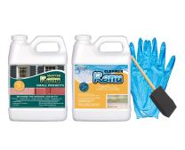 Shutter Renu Small Project Kit-Color Restorer - Lasts 10 Yrs. - Cleans, Protects & Restores Color To Faded Shutters,Patio Furniture,Mailboxes,Doors & More. Easy To Use, Water Based & No Toxic Solvents