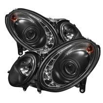 Spyder Auto PRO-YD-MBW21103-HID-DRL-BK Black LED Projection Headlight