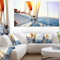 Designart PT14253-271 Canvas Wall Art, 28'' Hx48'' Wx1'' D 4P, Blue