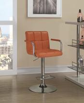 Coaster Home Furnishings CO-121098 Adjustable Bar Stool, Orange/Orange