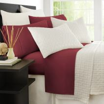 Zen Bamboo Luxury 1500 Series Bed Sheets - Eco-Friendly, Hypoallergenic and Wrinkle Resistant Rayon Derived from Bamboo - 4-Piece - California King - Burgundy