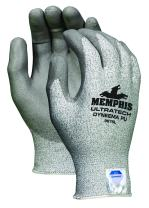 MCR Safety 9676M UltraTech Dyneema 13-Gauge PU Coating Washable Gloves, Salt and Pepper, Medium 1-Pair