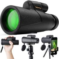 Monocular Telescope Compatible with iPhone Android, 12x50 High Power Monocular for Bird Watching Adults with Smartphone Holder & Tripod BAK4 Prism for Wildlife Hunting Camping Travelling