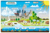 """ZiGYASAW Global Warming Giant Jumbo Jigsaw Floor Puzzle (Wipe-Clean Surface, Teaches Social Science, 54 Pieces, 24"""" L x 36"""" W, Great Gift for Girls and Boys - Best for 5,6,7,8 Year Olds and Up)"""