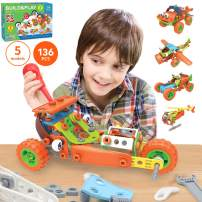 136 PCS STEM Learning Toys - Educational Engineering and DIY STEM Construction Kit - Best Building Set for 6 7 8 9 10+ Year Olds Boys & Girls That Love to Build - Creative Stem Gift Play Set for Kids