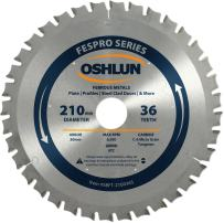 Oshlun SBFT-210036S 210mm 36 Tooth FesPro Ferrous ACT Saw Blade with 30mm Arbor for Festool TS 75 EQ