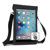 """USA GEAR Tablet Sleeve Neoprene Carrying Case Compatible with iPad 5th Gen 9.7"""" - Built-In Touch Capacitive Screen Protector - Fits 2017 9.7"""" New iPad / 9.7"""" iPad Pro Air 2, other 9 to 10-Inch Tablets"""