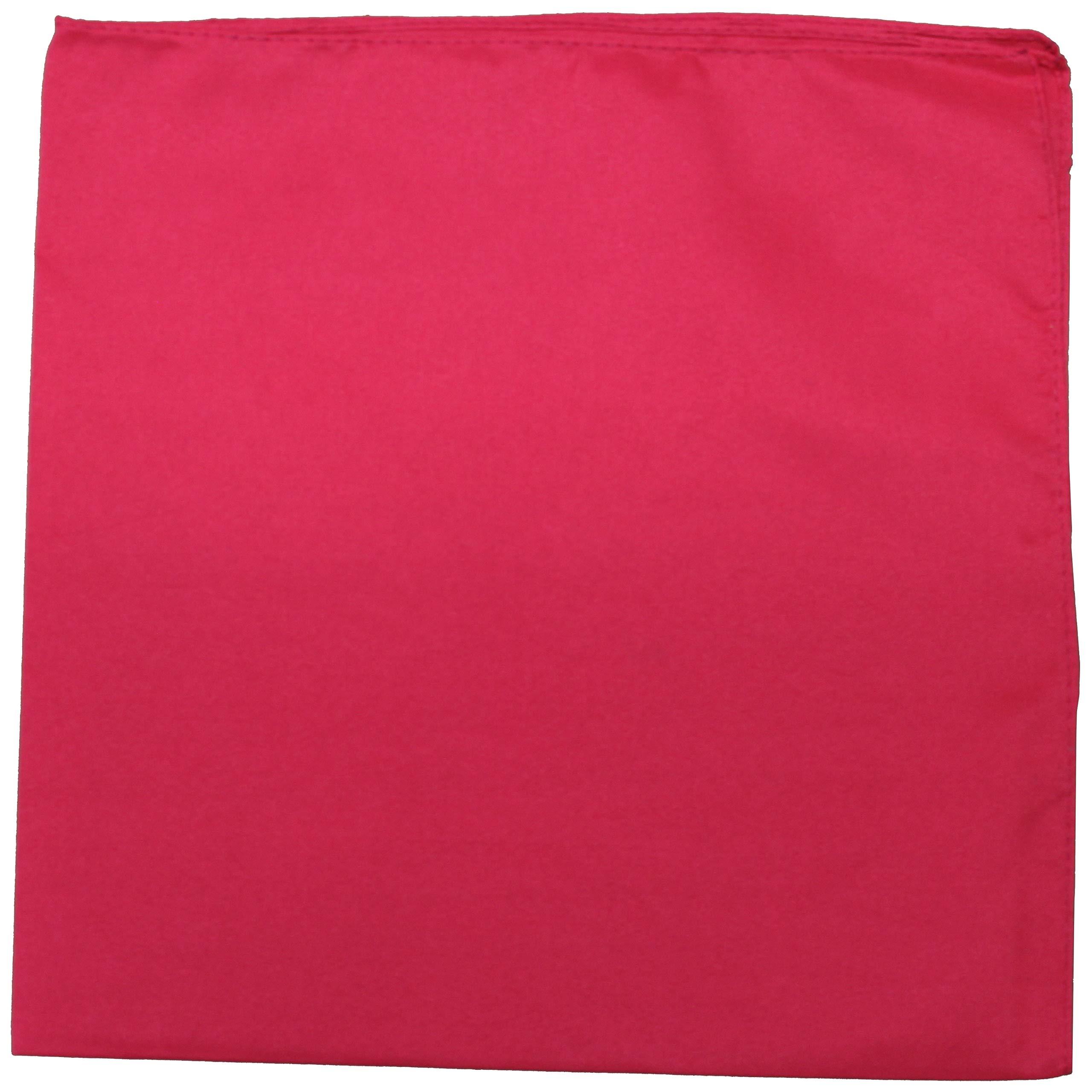 Set of 50 Solid 100% Polyester Unisex Bandanas - Bulk Wholesale