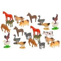 Big Mo's Toys Farm Animals - Mini Farm Animal Figurines Assortment Party Favors Pack - 75 Pieces
