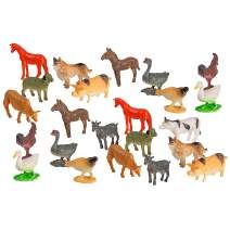 Big Mo's Toys Farm Animals - Mini Farm Animal Figurines Assortment Party Favors Pack - 75 Pieces